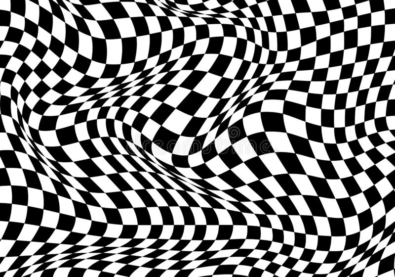Предпосылка Checkered черноты волны белая для чемпионата гонки спорта и дело заканчивают вектор успеха бесплатная иллюстрация