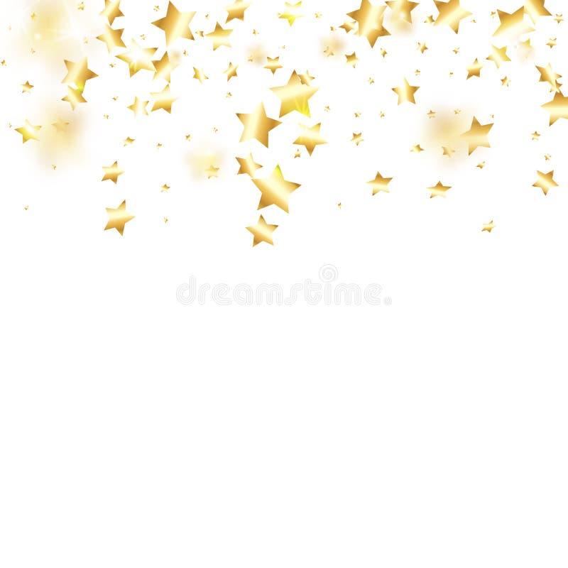 Предпосылка confetti звезды падая бесплатная иллюстрация