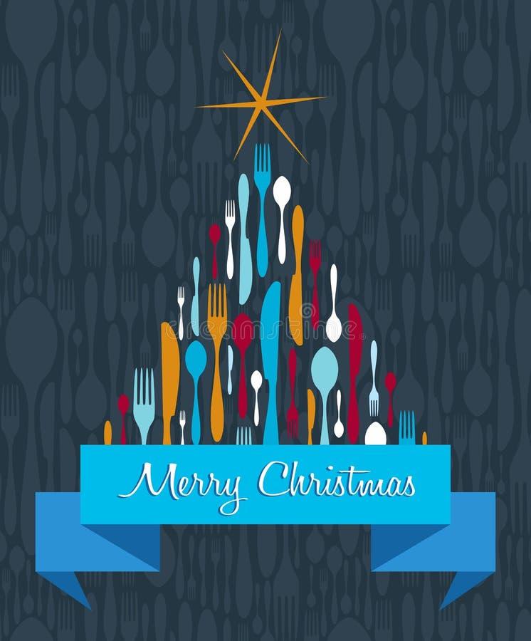 Предпосылка Cutlery рождественской елки бесплатная иллюстрация