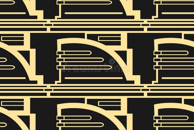 Предпосылка Deco современного искусства иллюстрация вектора
