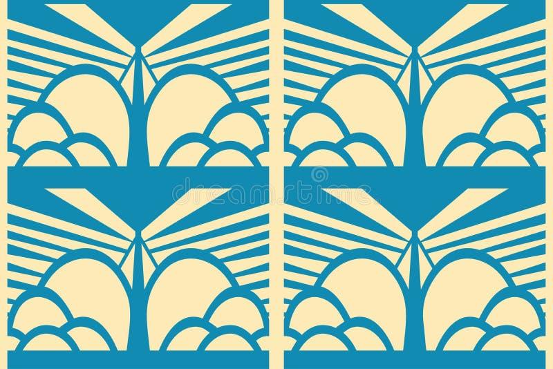 Предпосылка Deco современного искусства бесплатная иллюстрация