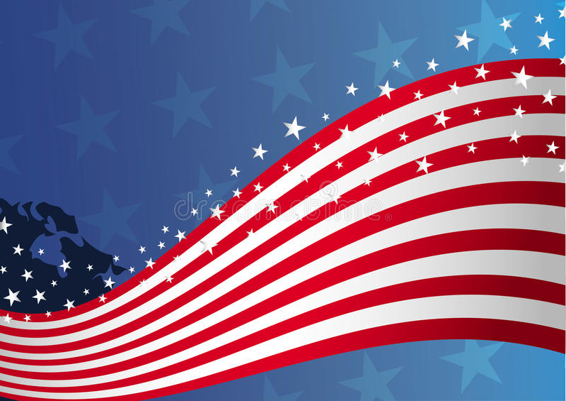 предпосылка flag мы США иллюстрация вектора