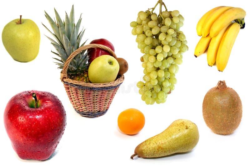предпосылка fruits белизна стоковые изображения rf