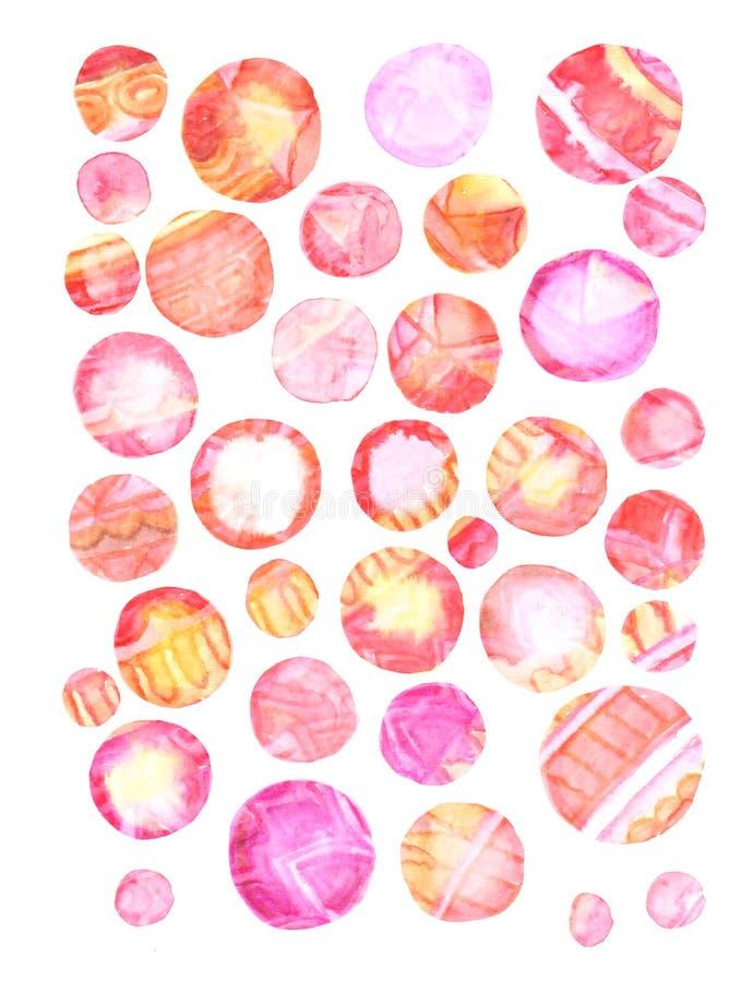 Предпосылка grunge акварели в цветах радуги Винтажный плакат, знамя, страница scrapbook Handmade постаретая бумажная текстура в р бесплатная иллюстрация