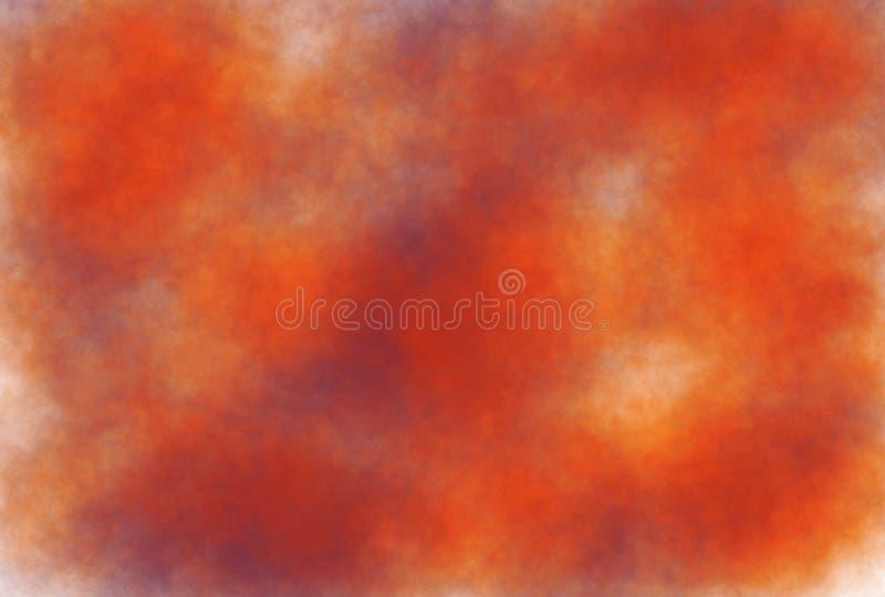 предпосылка grunge акварели Мягк-цвета винтажная пастельная абстрактная с покрашенными тенями белого, оранжевого, темного фиолето иллюстрация вектора