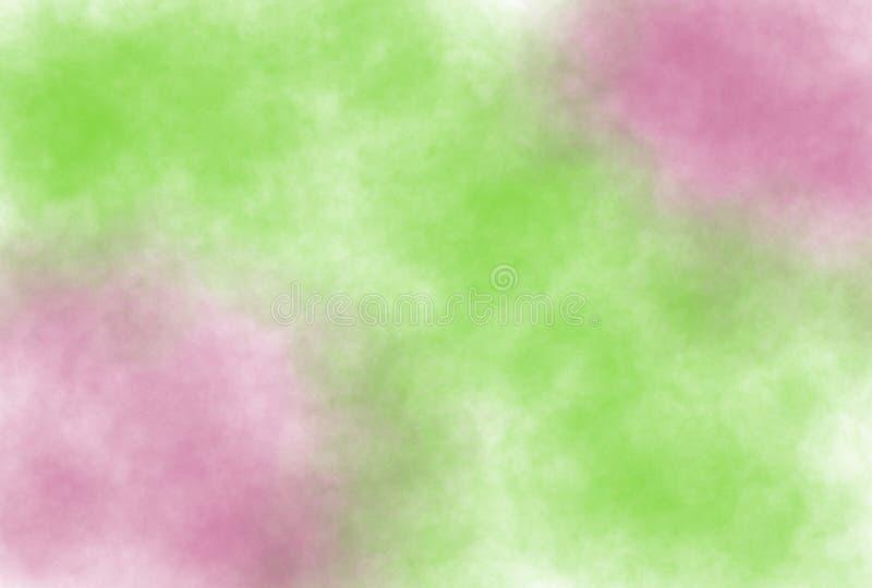 предпосылка grunge акварели Мягк-цвета винтажная пастельная абстрактная с покрашенными тенями белого, розового, зеленого цвета иллюстрация вектора