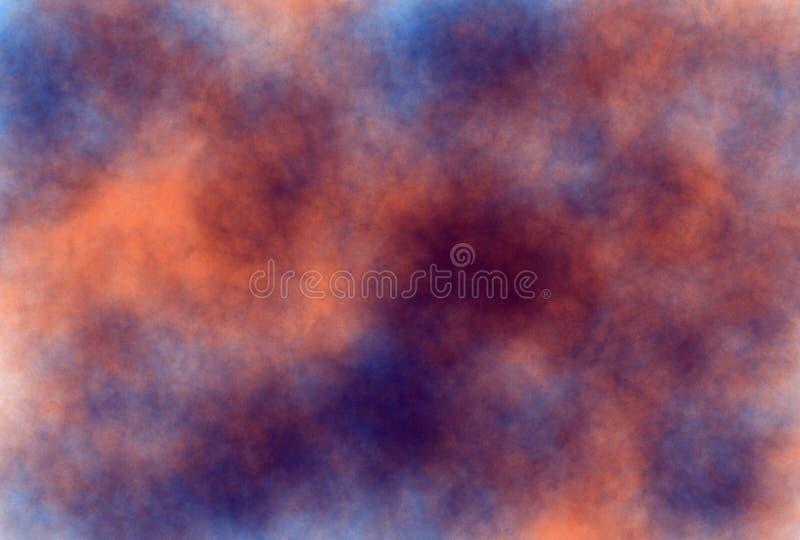 предпосылка grunge акварели Мягк-цвета винтажная пастельная абстрактная с покрашенными тенями оранжевого и синего цвета иллюстрация вектора