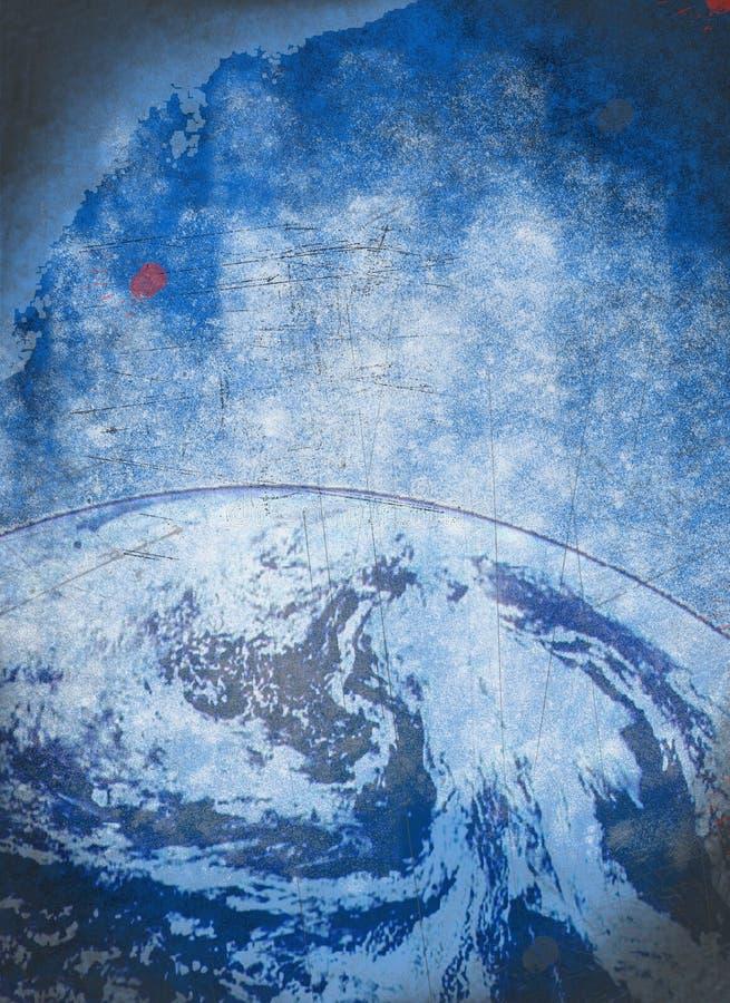 Предпосылка grunge земли планеты стоковое изображение rf