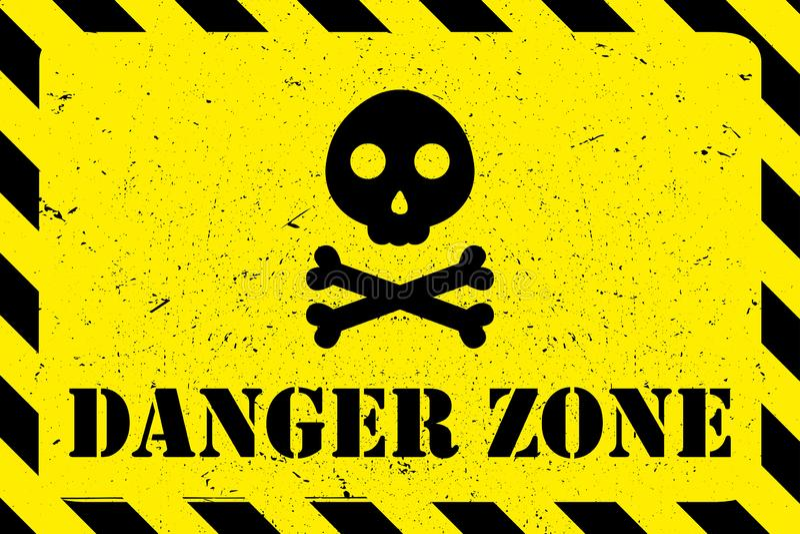 Предпосылка grunge опасной зоны бесплатная иллюстрация