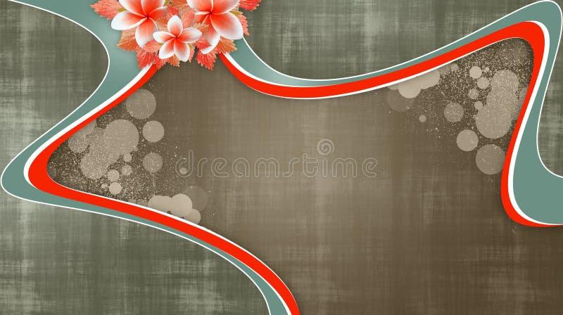 Предпосылка Grunge флористическая с красными свирлями стоковые фото