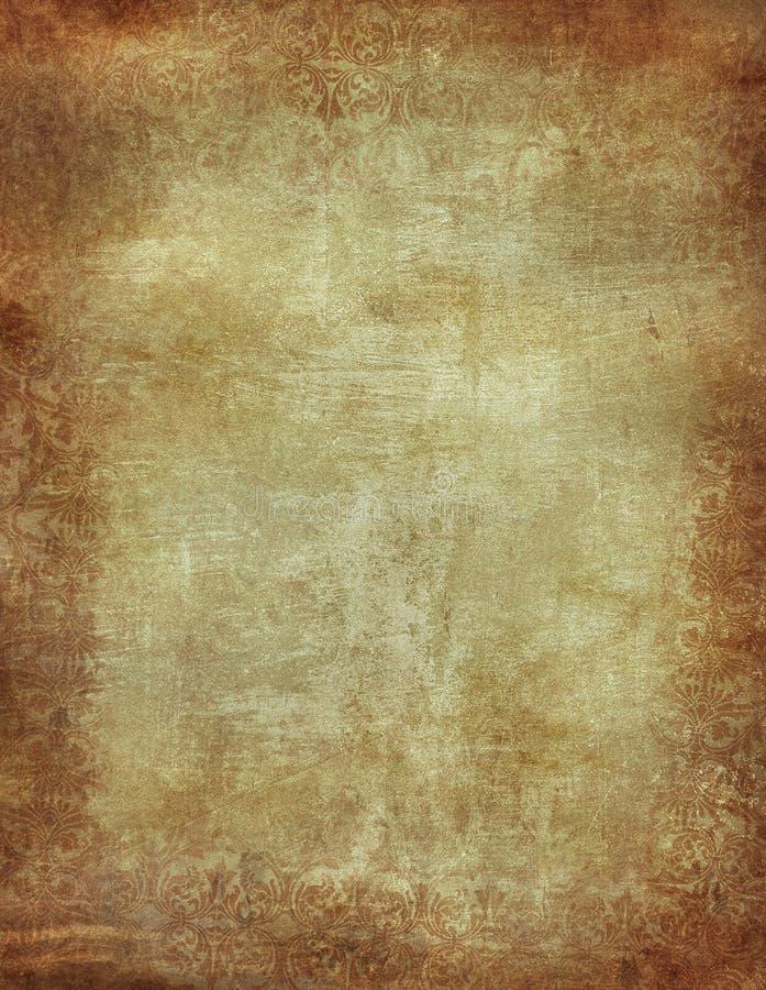 Предпосылка Grunge флористическая Стоковое Изображение RF