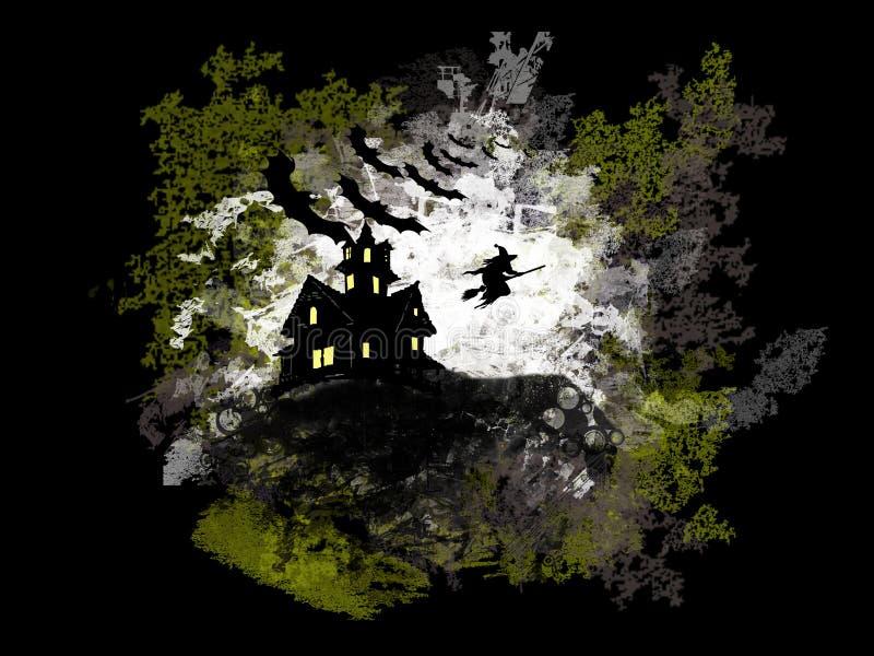 Предпосылка Grunge Halloween иллюстрация штока