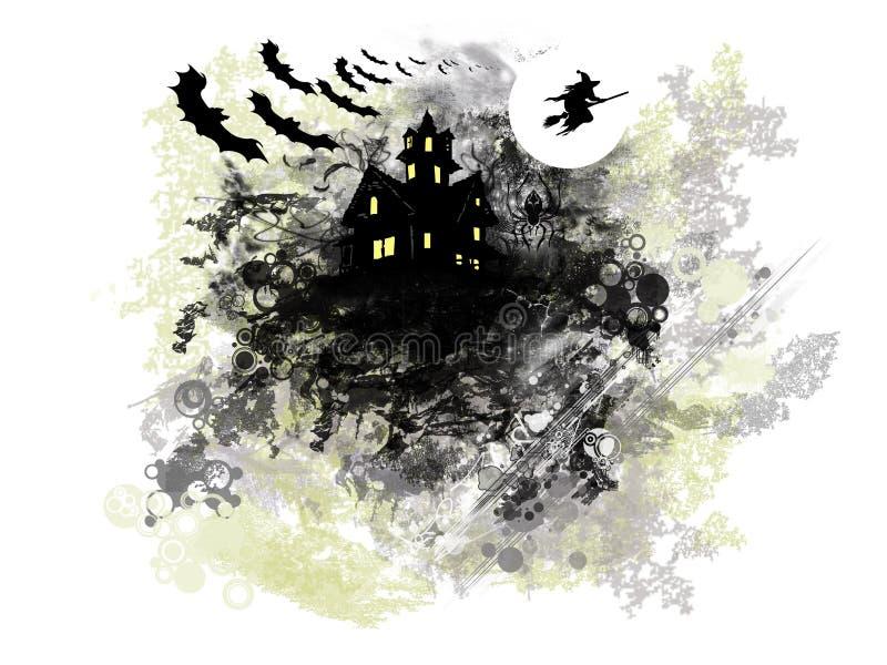 Предпосылка Grunge Halloween бесплатная иллюстрация
