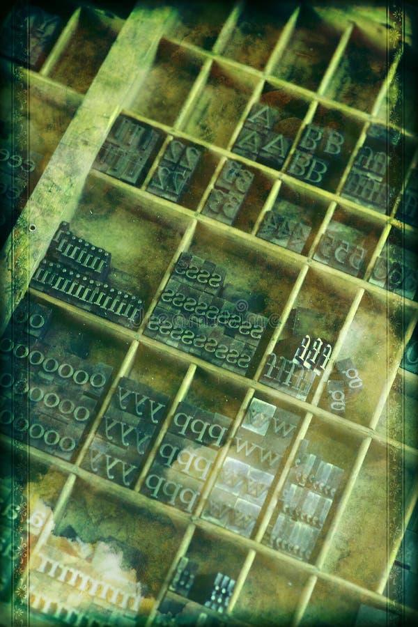 Предпосылка Letterpress Grunge стоковая фотография rf