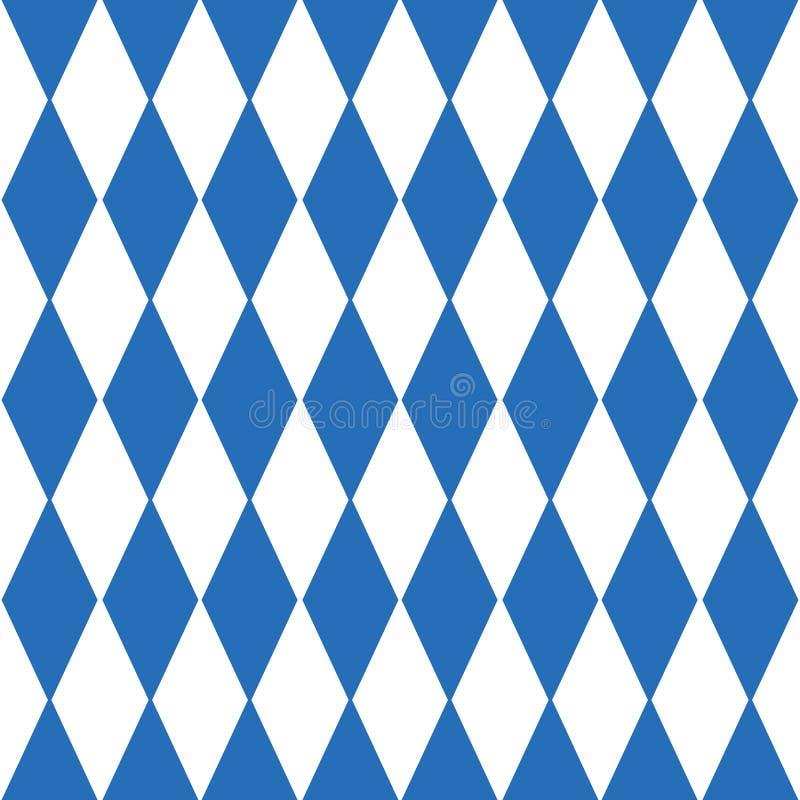 Предпосылка Oktoberfest checkered и баварская картина флага иллюстрация штока