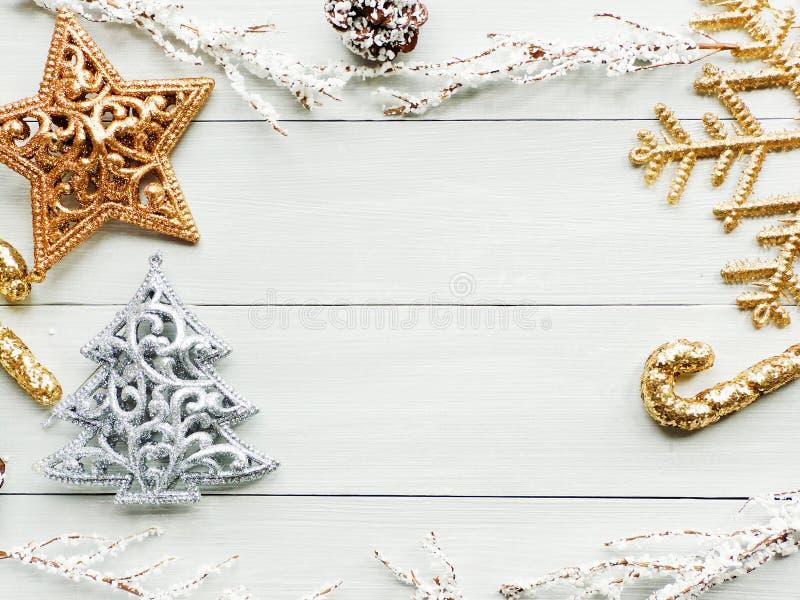 Предпосылка ornsments рождества стоковые фотографии rf
