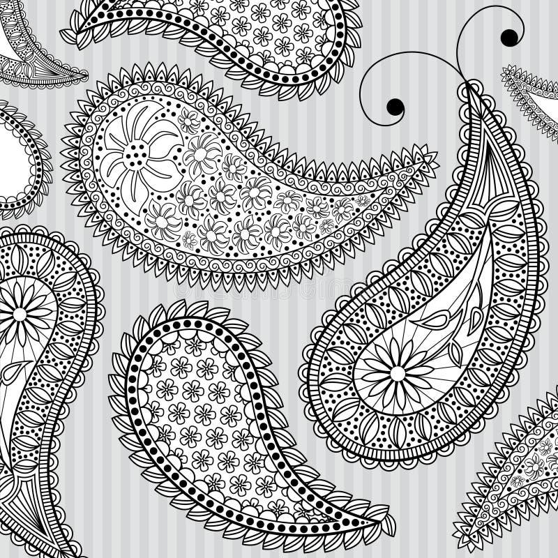 Предпосылка Paisley иллюстрация вектора