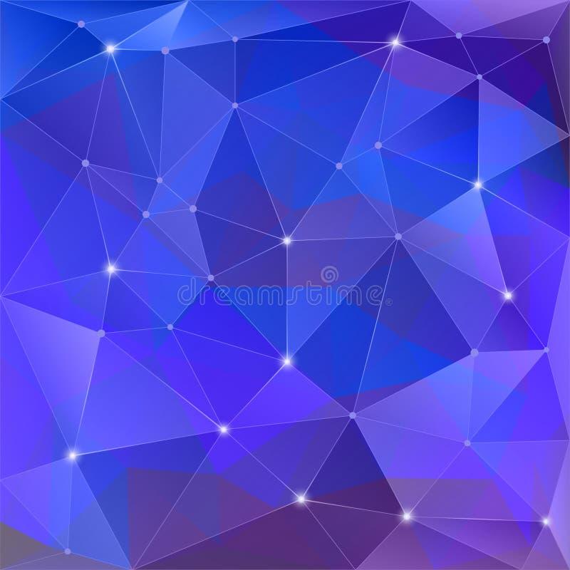 Предпосылка poligon конспекта геометрическая состоя из треугольников иллюстрация вектора