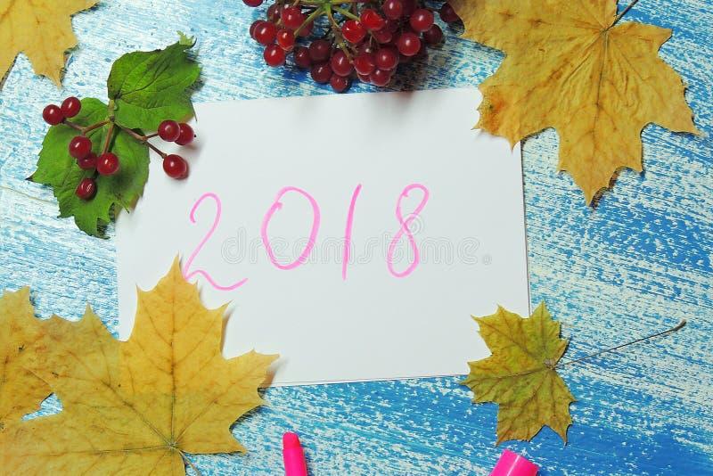 Предпосылка `s Новый Год 2018 стоковая фотография rf