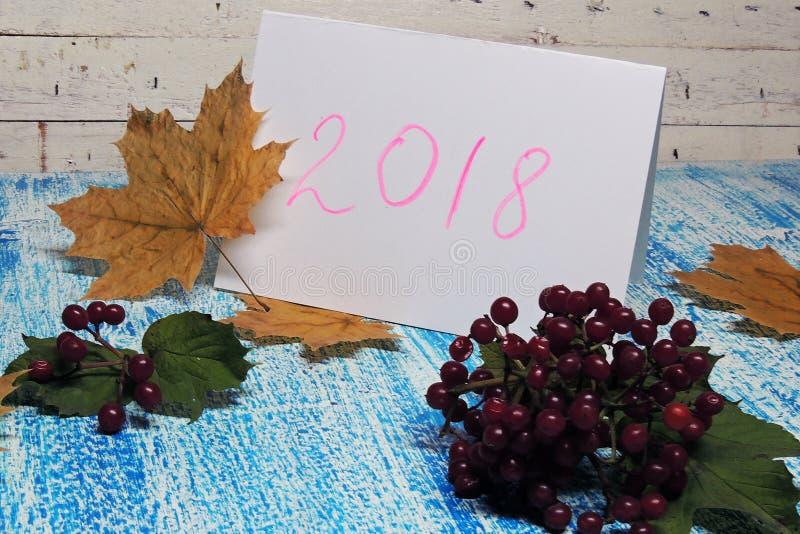Предпосылка `s Новый Год 2018 стоковое фото