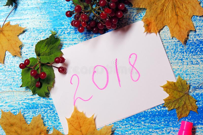 Предпосылка `s Новый Год 2018 стоковая фотография