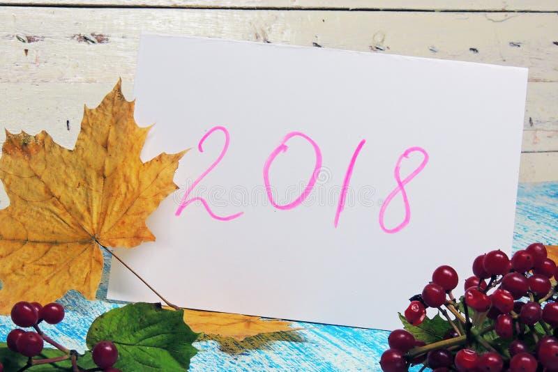 Предпосылка `s Новый Год 2018 стоковые фото