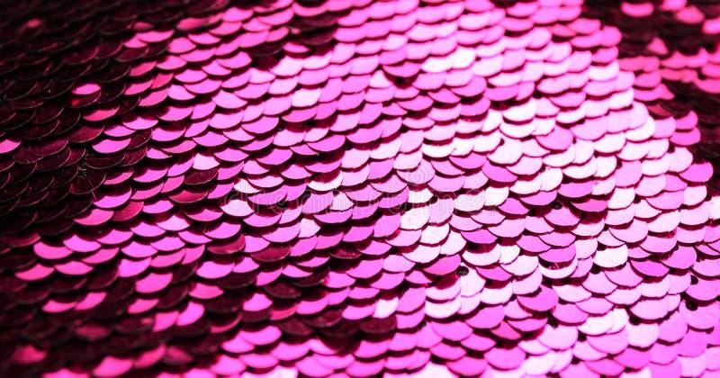 Предпосылка sequin моды розовая, сурфактант яркого блеска ткани стоковая фотография rf