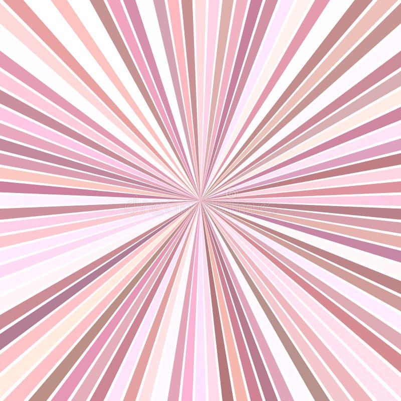 Предпосылка starburst пинка психоделическая абстрактная от striped лучей иллюстрация штока
