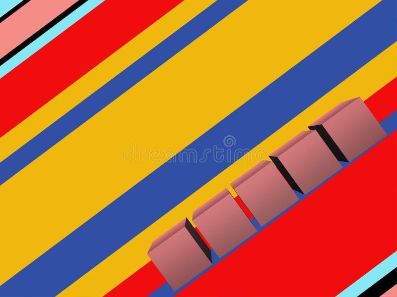 Предпосылка striped конспектом красочная иллюстрация штока