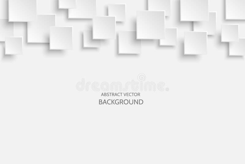 Предпосылки вектора белые современные абстрактные иллюстрация штока