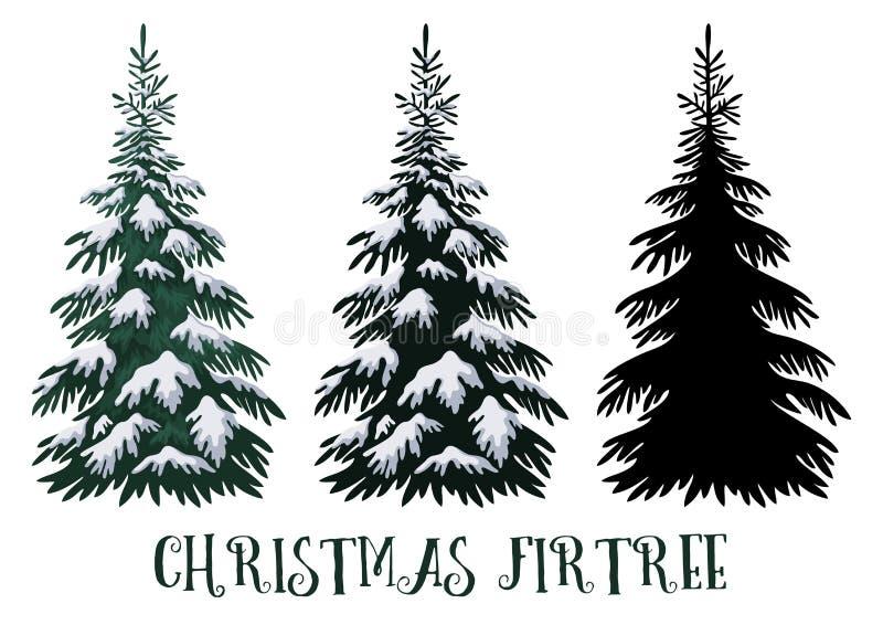 предпосылки голубой рождества темноты вал снежинок ели темно иллюстрация штока
