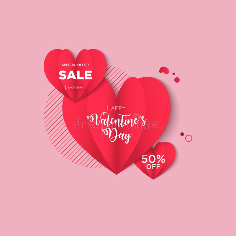 Предпосылки дня Святого Валентина конструируют с формой сердец бесплатная иллюстрация