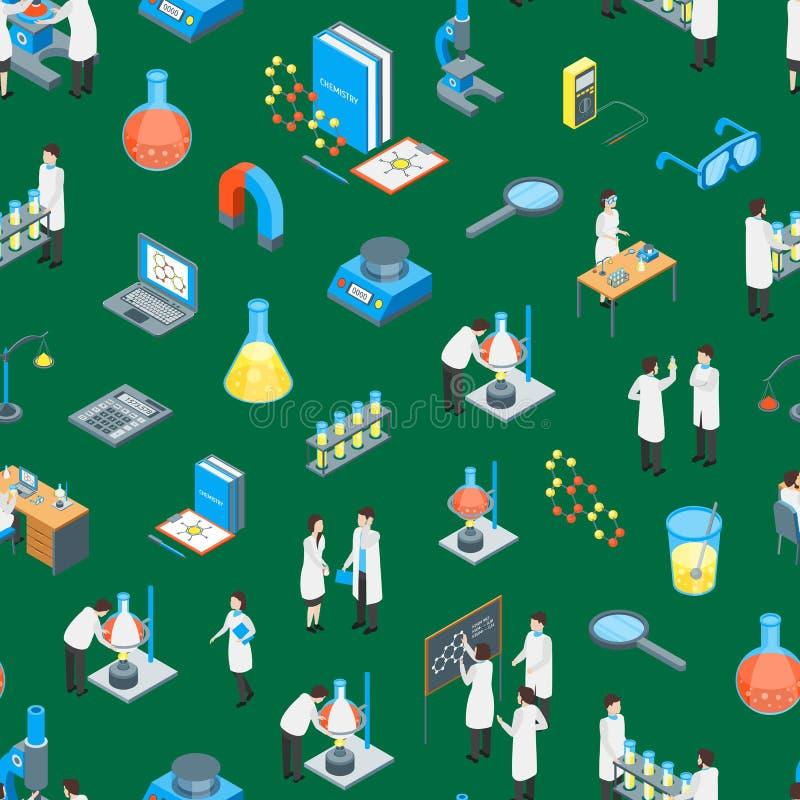 Предпосылки картины 3d химиката науки взгляд фармацевтической безшовной равновеликий вектор иллюстрация штока