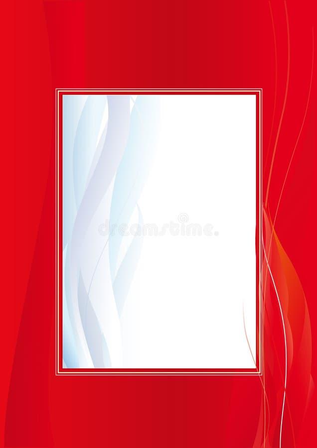 предпосылки красные иллюстрация вектора