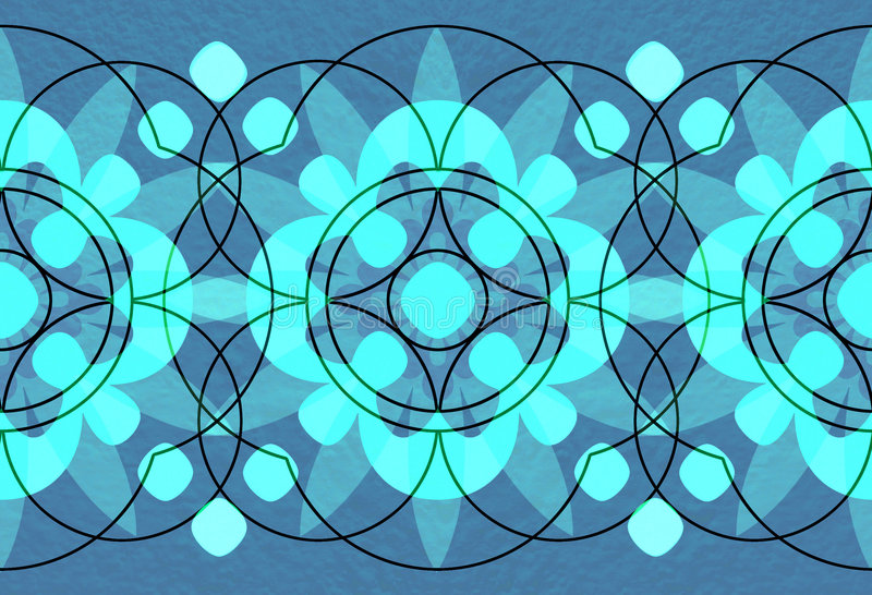 предпосылки объезжают богато украшенный иллюстрация вектора