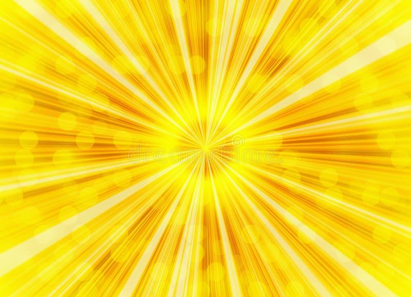 Предпосылки пузырей лучей яркого света иллюстрация вектора