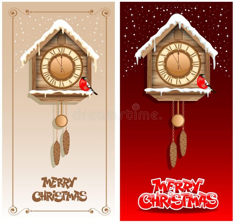 Предпосылки рождества иллюстрация вектора