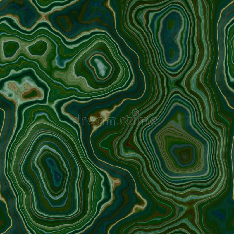 Предпосылки текстуры мраморного агата цвет каменистой безшовной - средний и темный ый-зелен - ровная поверхность иллюстрация вектора