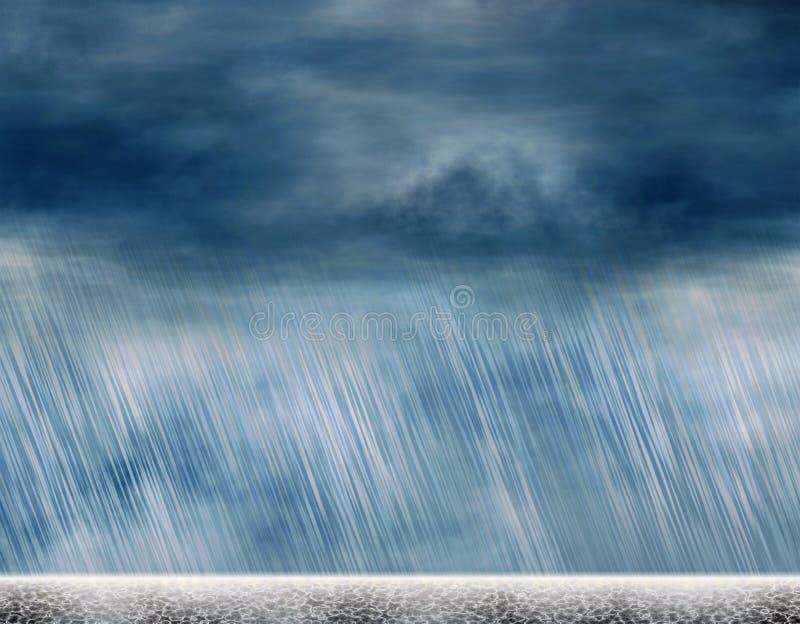 Предпосылки шторма дождя в пасмурной погоде бесплатная иллюстрация