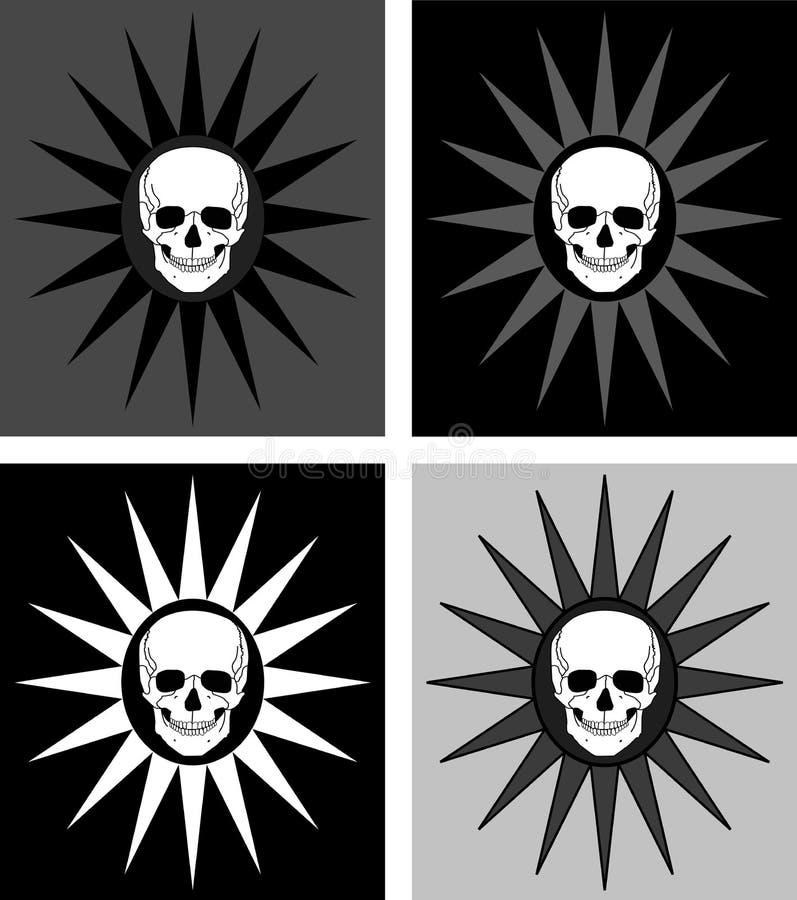 предпосылки 4 черепа иллюстрация вектора