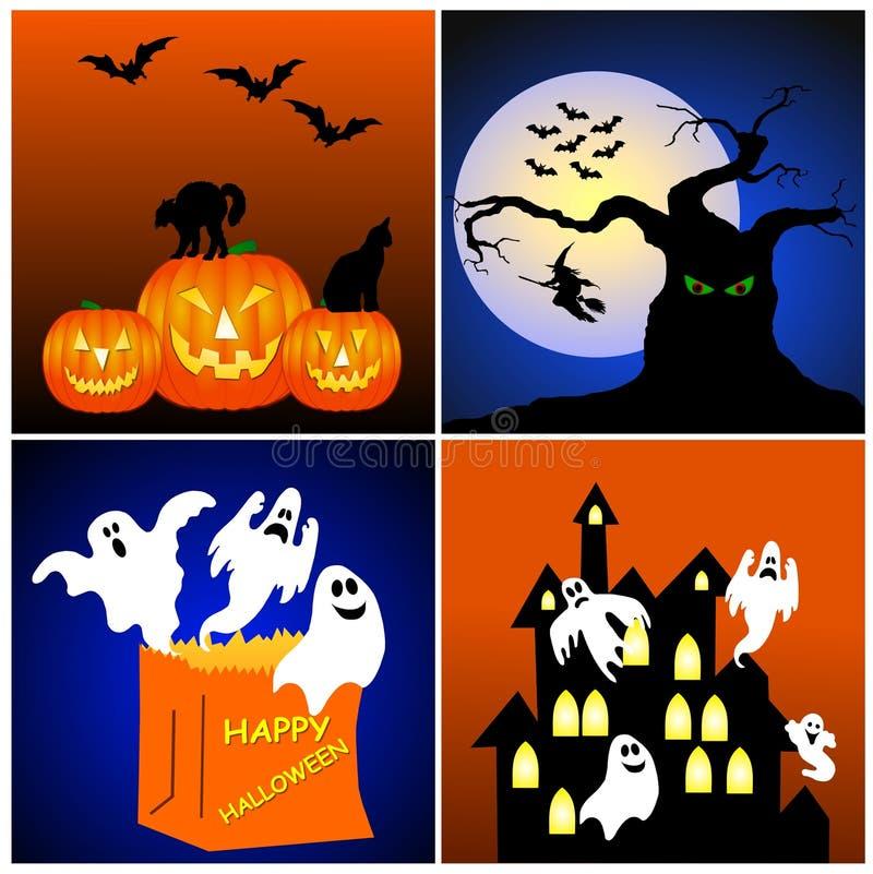предпосылки halloween иллюстрация вектора