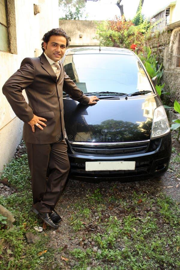 предприниматель автомобиля самолюбивое стоковая фотография rf