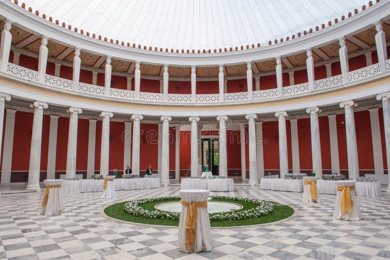 Предсердие на Zappeion Hall, Афинах стоковая фотография