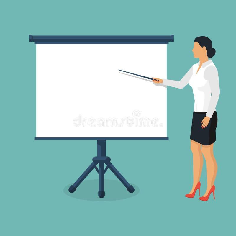 Представление бизнес-леди иллюстрация вектора