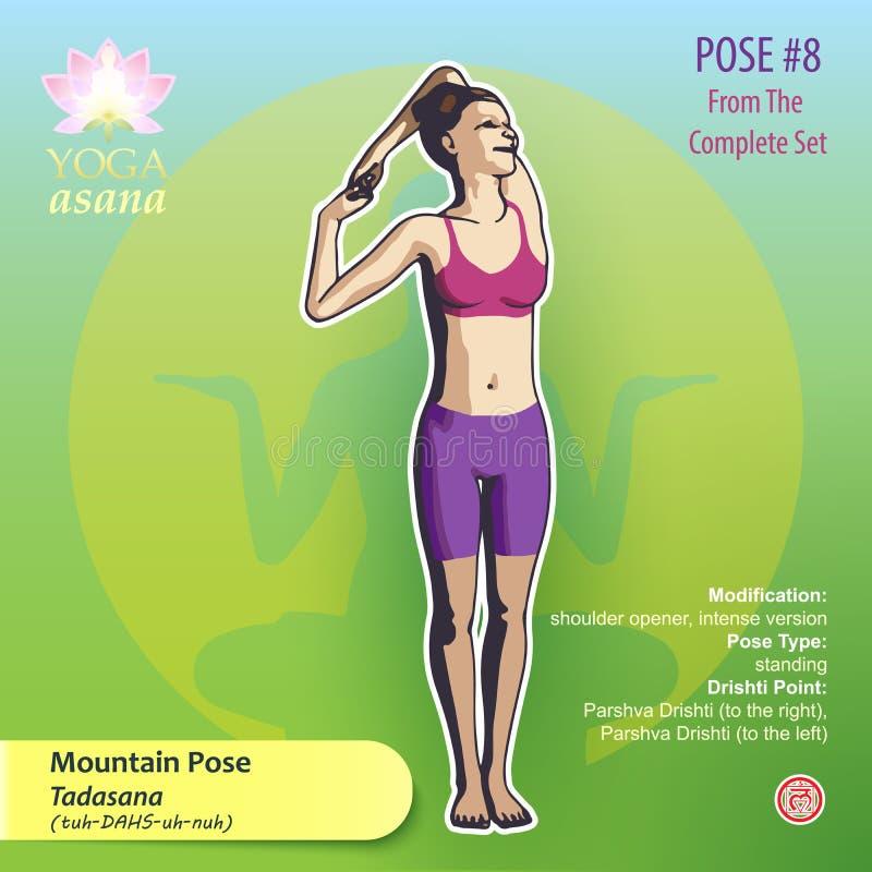 Представление 8 горы йоги иллюстрация штока