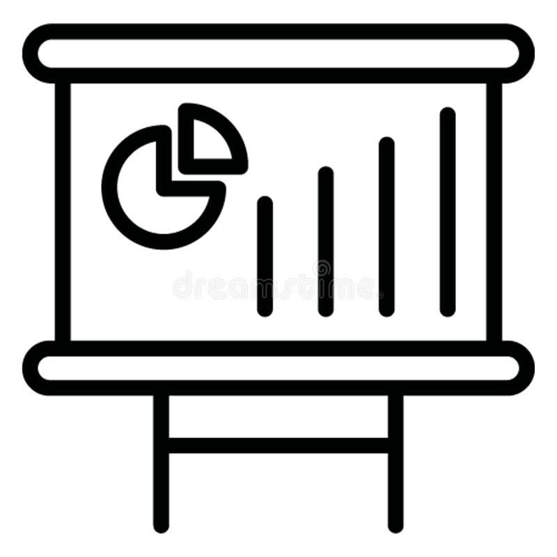 Представление дела изолировало значок вектора который может легко доработать иллюстрация штока