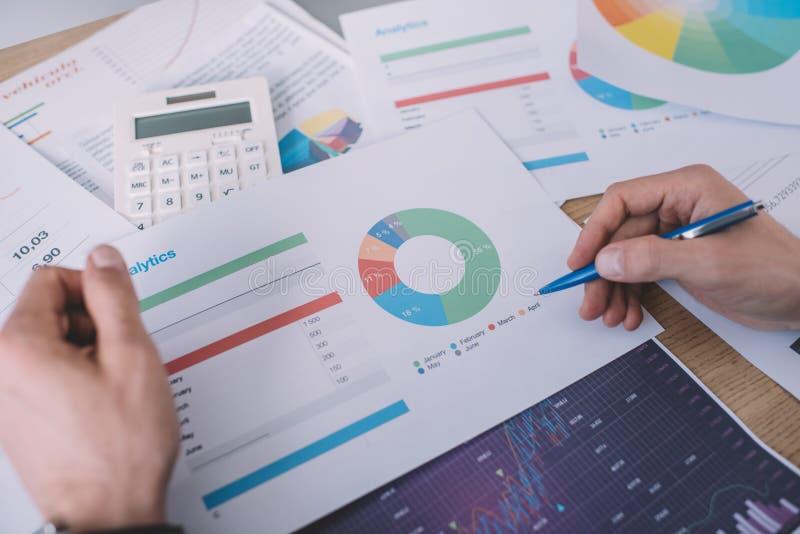 Представление стратегии планирования аналитиков по информационной безопасности с диаграммами стоковое изображение rf