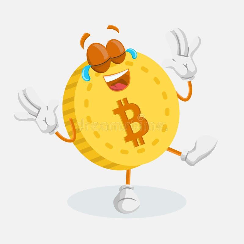 Представление талисмана логотипа Bitcoin счастливое бесплатная иллюстрация