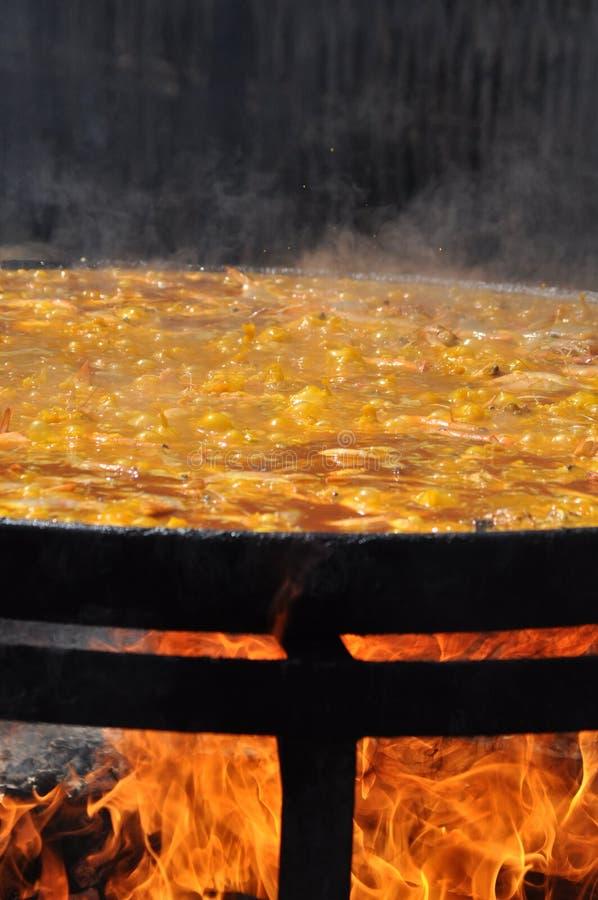 представление paella стоковое изображение