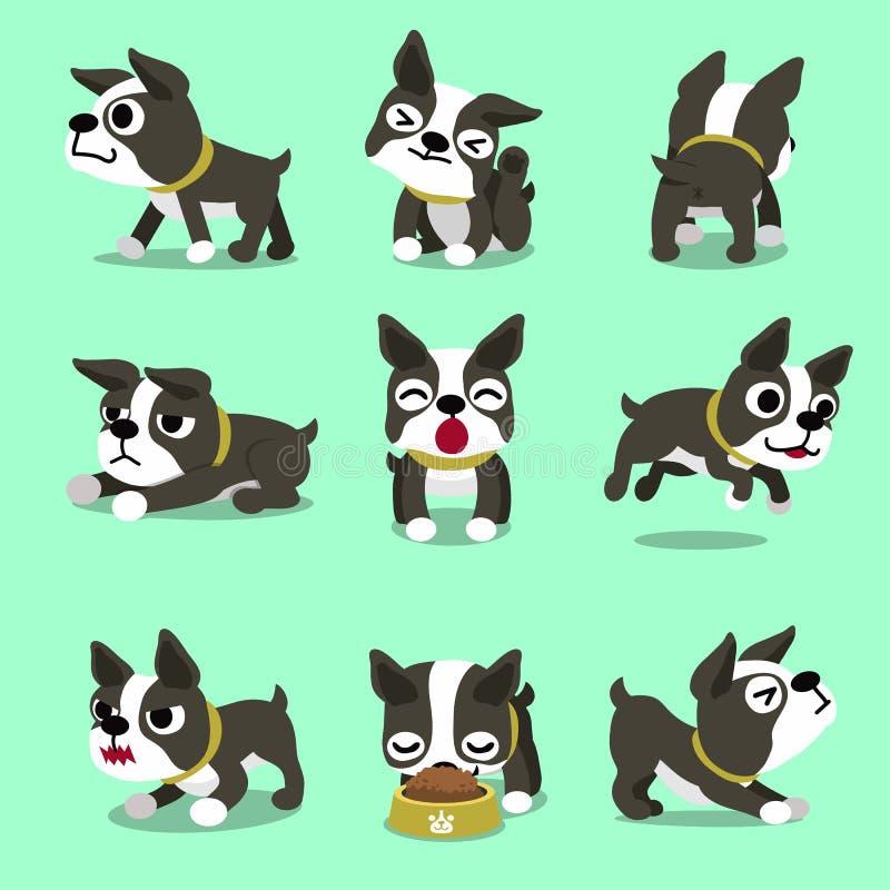 Представления собаки терьера boston персонажа из мультфильма иллюстрация вектора